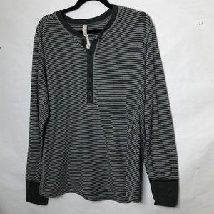 Lululemon men's  grey stripe long sleeve shirt